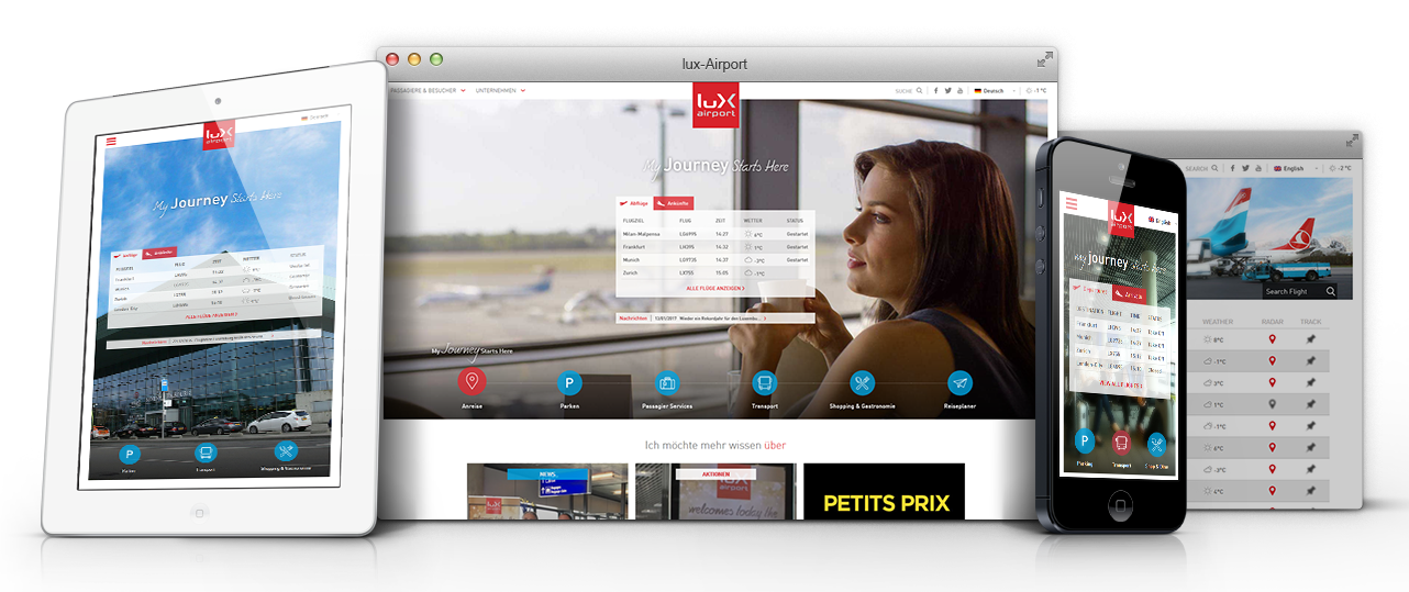 lux-airport website banner