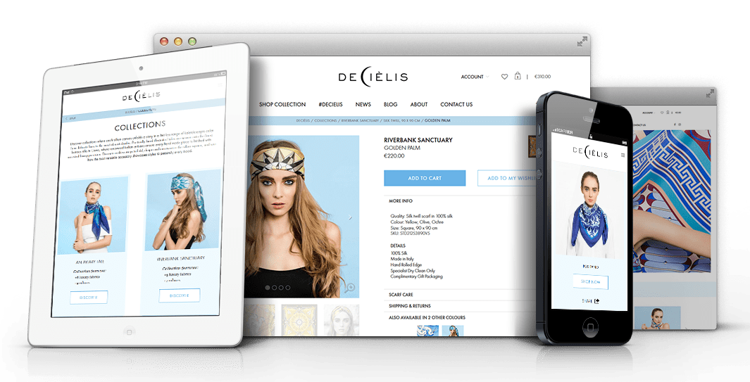 Decielis - a digital e-commerce experience developed by ICON