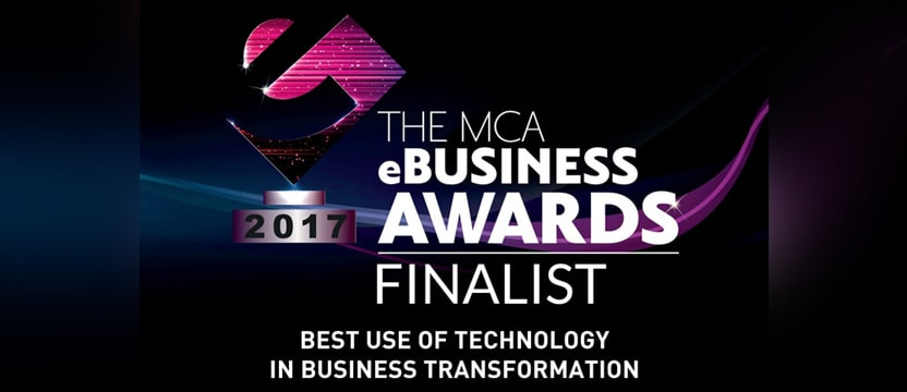 MCA eBusiness awards finalist banner