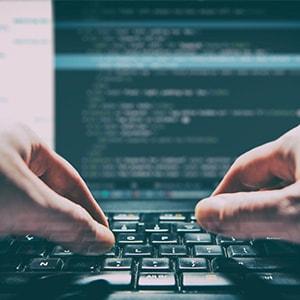Developer writing PHP code