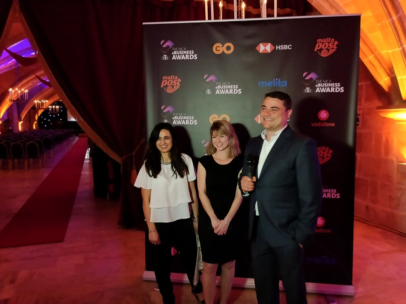 ICON Managing Director Ian Castillo at the MCA eBusiness Awards with some of the ICON team.